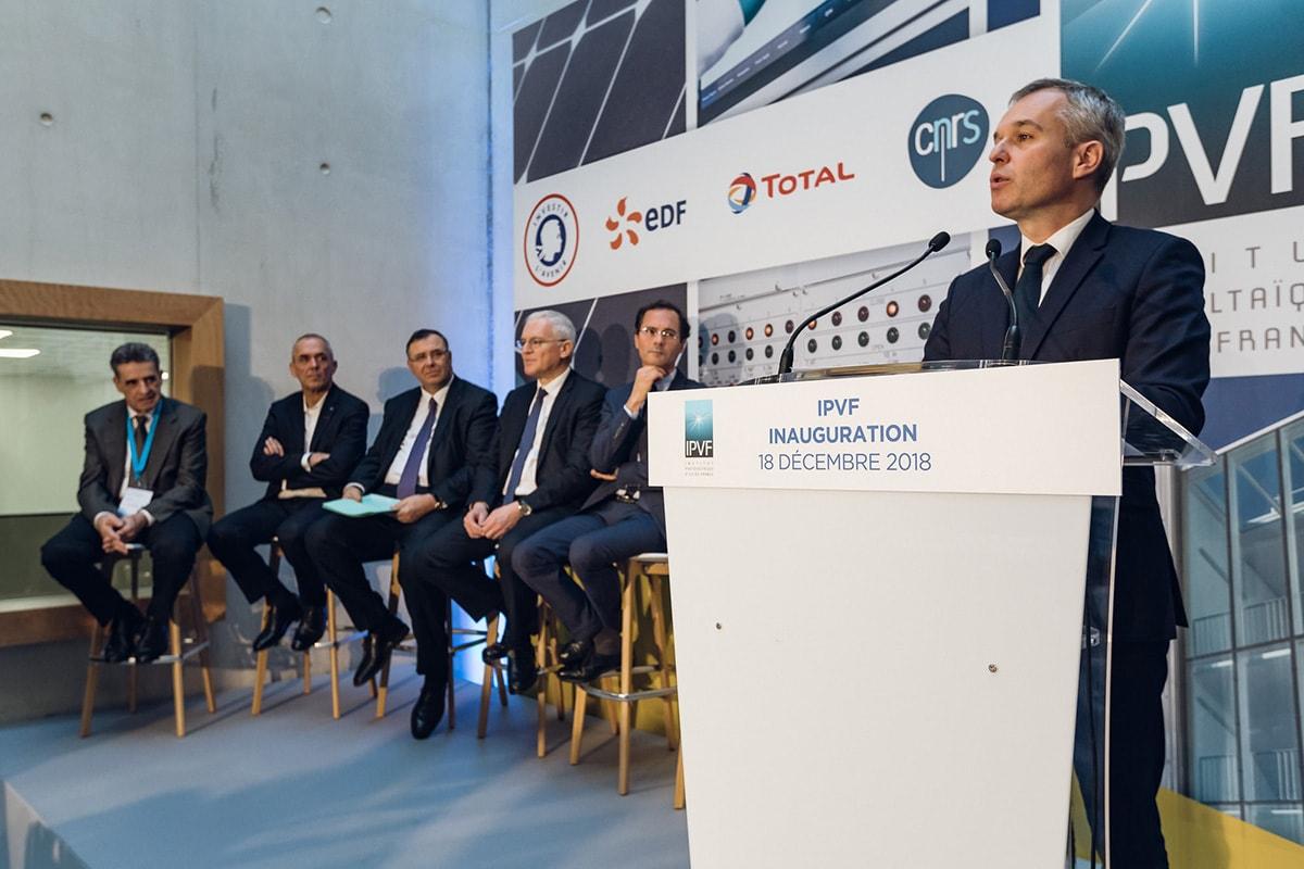 L'IPVF inauguré ce matin par François de Rugy, Jean-Bernard Lévy et Patrick Pouyanné